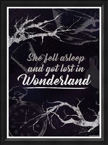 Framed Framed She Fell Asleep And Got Lost In Wonderland - Down The Rabbit Hole