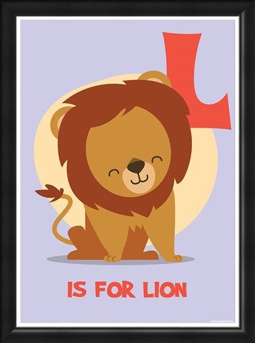 Framed Framed L...is for Lion - Fun Alphabet