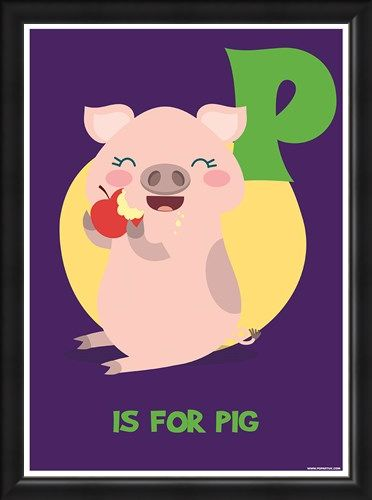 Framed Framed P Is For Pig - Fun Learning