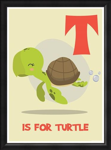 Framed Framed T Is For Turtle - Learning With Animals