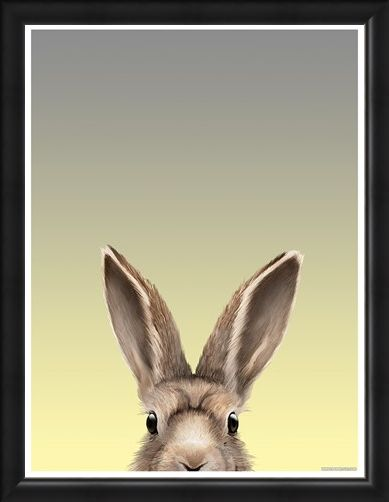 Framed Framed Alert As A Hare - Inquisitive Creatures