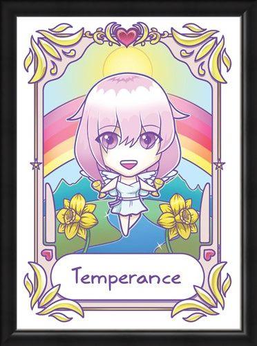 Framed Framed Temperance - Deadly Tarot Kawaii