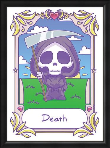 Framed Framed Kawaii - Death - Deadly Tarot
