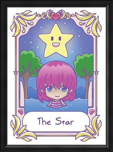 Framed Framed The Star - Deadly Tarot Kawaii