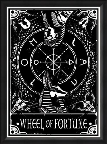 Framed Framed Wheel Of Fortune - Deadly Tarot