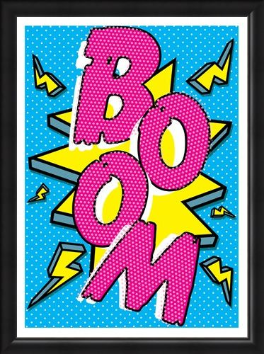 Framed Framed Boom! - Pop Art Implosion!