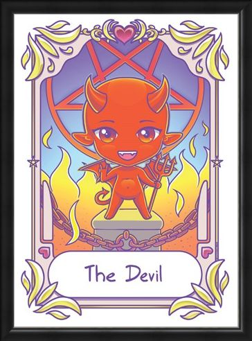 Framed Framed The Devil - Deadly Tarot Kawaii