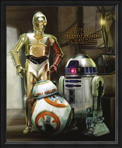 Framed Framed C-3PO, R2-D2 And BB-8 - Star Wars Episode VII