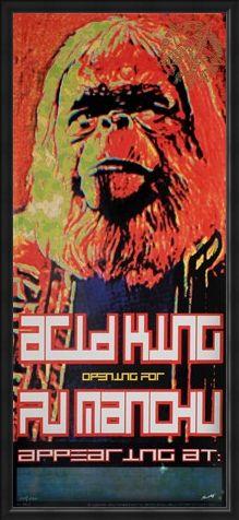 Framed Framed Acid King / Fu Manchu - Frank Kozik