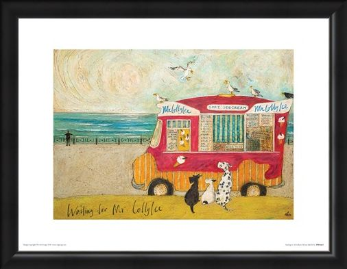 Framed Framed Waiting for Mr Lollyice - Sam Toft