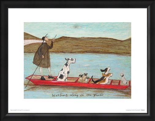 Framed Framed Woofing Along On The River - Sam Toft