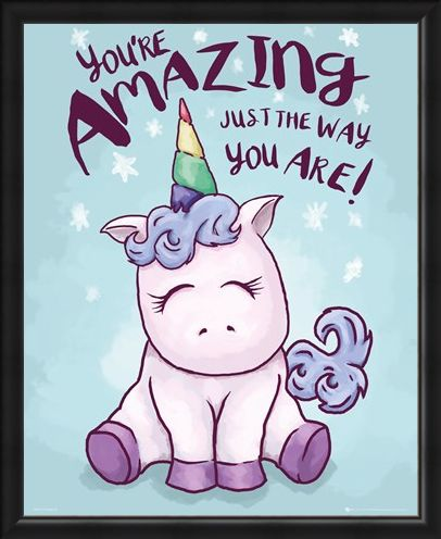 Framed Framed Unicorn You're Amazing Mini Poster -