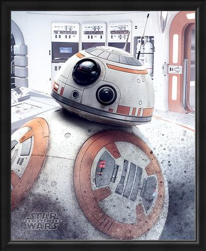 Framed Framed BB-8 Peek - Star Wars The Last Jedi