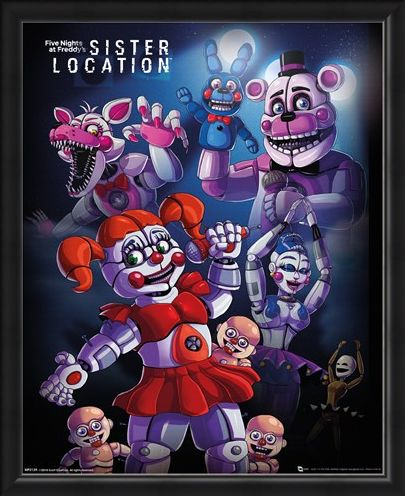 Framed Framed Sister Location Group - Five Nights at Freddy's