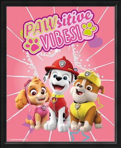 Framed Framed Pawsitive Vibes - Paw Patrol