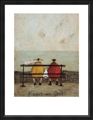 Framed Framed Bums on Seat - Sam Toft