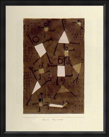 Framed Framed Dancing From Fear - Paul Klee