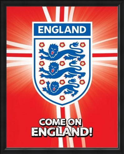 Framed Framed Come on England! - International Football