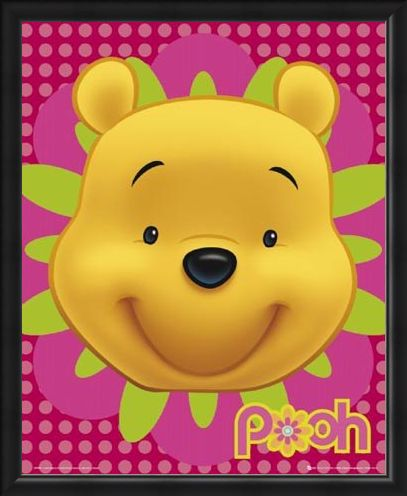 Framed Framed Happy Hunny Bear - Winnie the Pooh