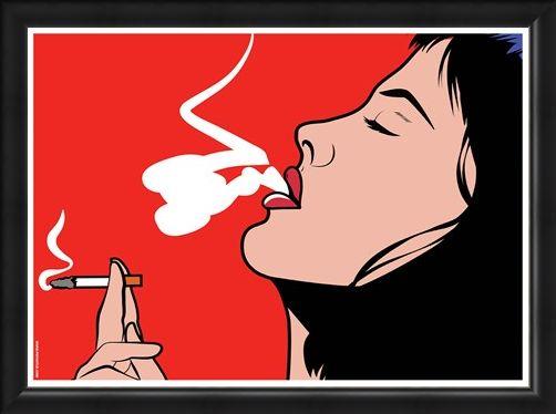 Framed Framed Smoke - Pop Art Exhale