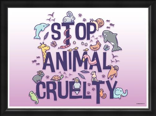 Framed Framed All Creatures Great And Small - Stop Animal Cruelty