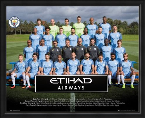 Framed Framed Team Photo 2016/17 - Manchester City