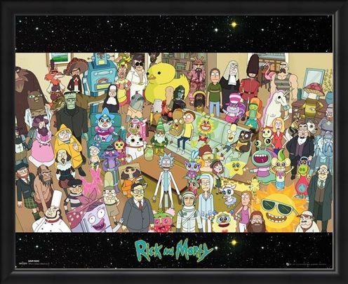 Framed Framed Cast - Rick and Morty
