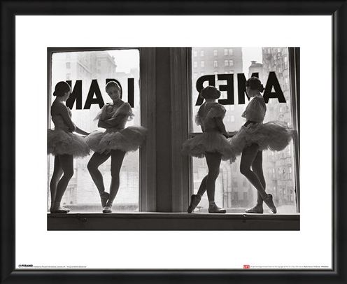 Framed Framed Ballet Dancers in Window - Time Life