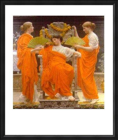 Framed Framed Midsummer - Albert Joseph Moore