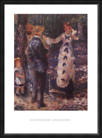 Framed Framed The Balançoire (The Swing) - Auguste Renoir