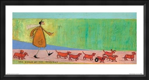 Framed Framed The March of the Sausages - Sam Toft