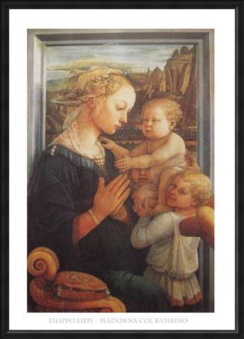 Framed Framed Madonna with Child - Filippo Lippi