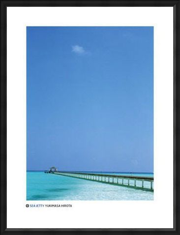 Framed Framed Sea Jetty in the Maldives - by Yukimasa Hirota