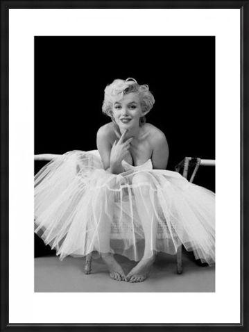 Framed Framed Marilyn Monroe; Ballerina - Milton H Greene