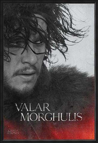 Framed Framed Jon - Valar Morghulis - Game Of Thrones