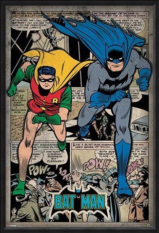 Framed Framed Batman Comic Book Montage - DC Comics
