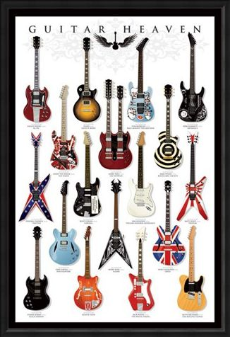 Framed Framed Guitar Heaven - A Collectors Paradise!