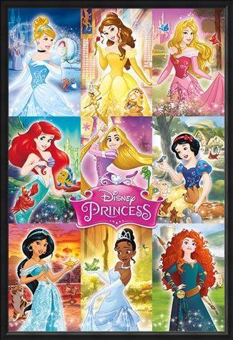Framed Framed Princess Collage - Disney Princess