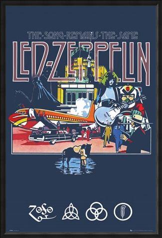 Framed Framed The Song Remains The Same - Led Zeppelin