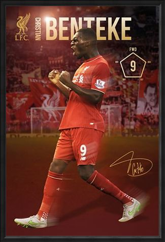 Framed Framed Christian Benteke 2015/16 - Liverpool Football Club