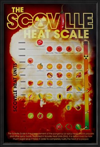Framed Framed How Hot Can You Handle It? - The Scoville Heat Scale