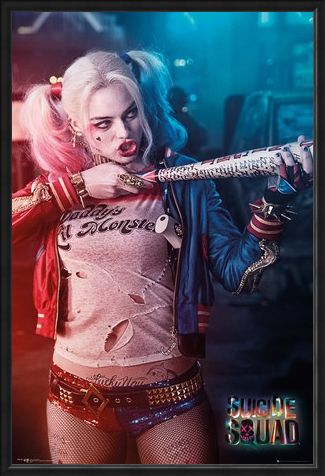Framed Framed Harley Quinn - Baseball Gun - Suicide Squad