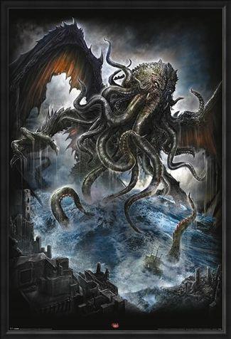 Framed Framed Spiral Cthulhu - Mythical Monster