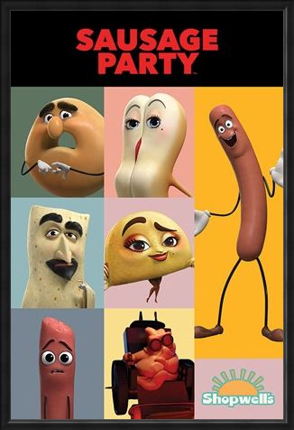 Framed Framed Get Your Fill - Sausage Party Characters