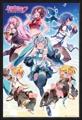 Framed Framed Vocaloid Performance - Hatsune Miku Group