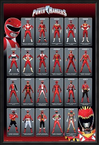 Framed Framed Red Ranger Evolution - Power Rangers