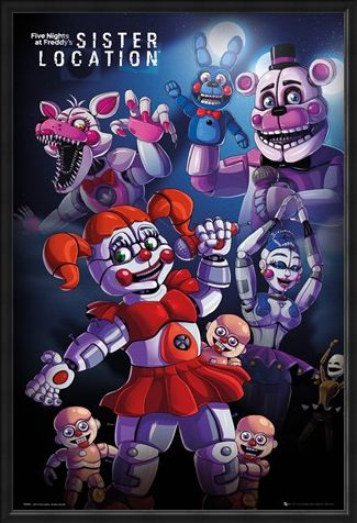 Framed Framed Sister Location - Five Nights At Freddy's