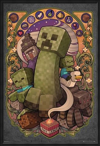 Framed Framed Creeper Nouveau - Minecraft