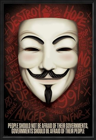 Framed Framed Governments Should Be Afraid Of Their People - V for Vendetta