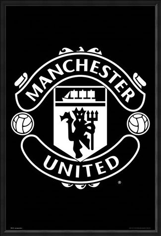 Framed Framed Crest 17-18 - Manchester United